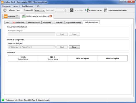 Carport  Funktionen Der Fahrzeugdiagnose Software (obd