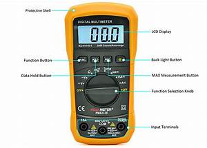 Peakmeter Pm8233e Digital Handheld Multimeter Auto Ranging