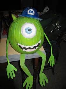 Free Mike Wazowski Pumpkin Pattern by Mike Monsters Inc Pumpkin Contest Angie Carroll Flickr