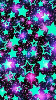 blue stars glitter sparkle glow phone wallpaper