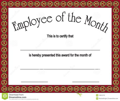 Free Printable Student Of The Month Certificate Templates