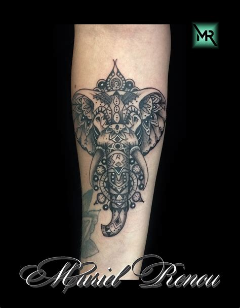 elephant mandala tatouage cochese tattoo