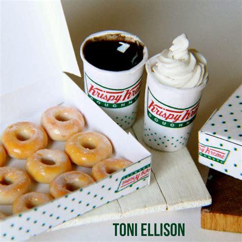 cuisine miniature toni ellison krispy kreme doughnuts coffee miniature