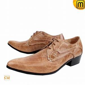 Mens Leather Oxford Dress Shoes Tan CW760070