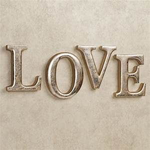 Love letters wall word art set for Love wall art letters
