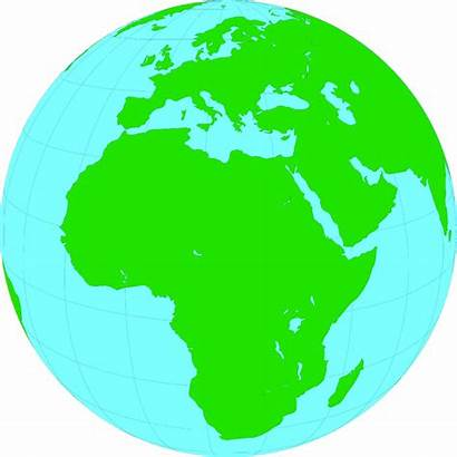 Globe Clip Africa Clipart Earth Showing Illustration