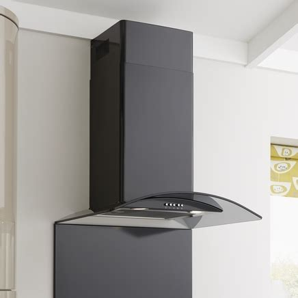 Lamona Black Curved Glass Extractor Fan 60cm   Howdens Joinery
