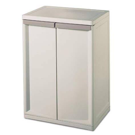 Sterilite 2 Shelf Utility Cabinet suncast c3600g utility storage base cabinet feel the home