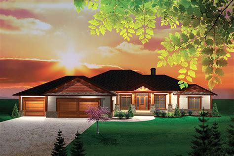 northwest ranch home ah architectural designs house plans