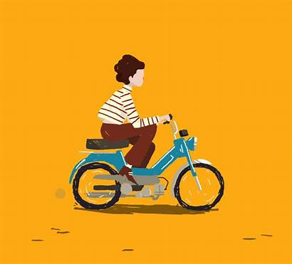 Scooter Animation Gifs Giphy Moped Animasi Animations