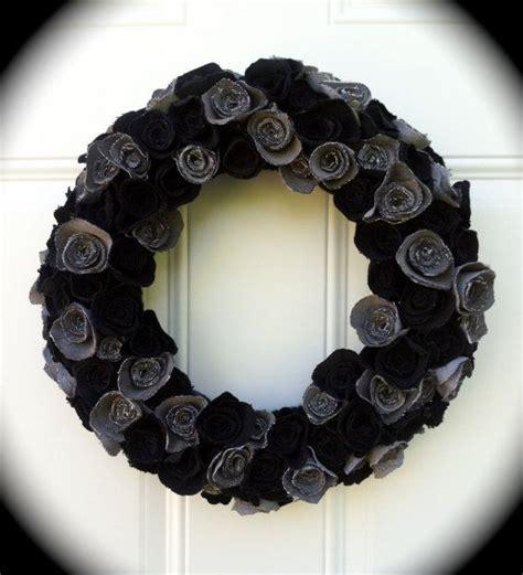 17 best ideas about black wreath on pinterest halloween