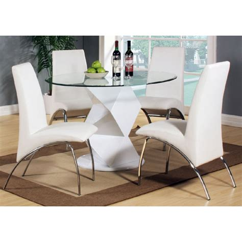 clear glass dining table and 4 chairs aruba gloss white clear glass top dining table and 4 chairs
