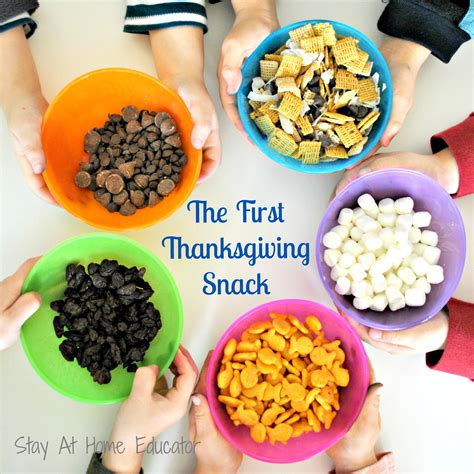 the thanksgiving snack stay at home educator 570 | The first Thanksgiving snack a preschool activity to celebrate Stay At Home Educator