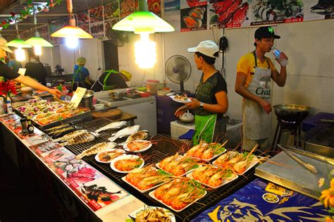 bazar cuisine food open air food bazaar patong promenade plaza