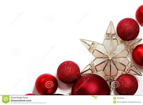 christmas decorations border  greeting card stock photo