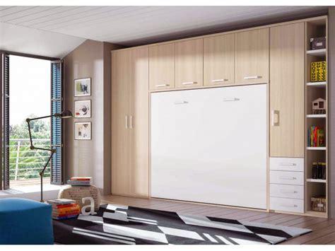 armoire bureau intégré lit escamotable enfant mural encastrable et rabattable