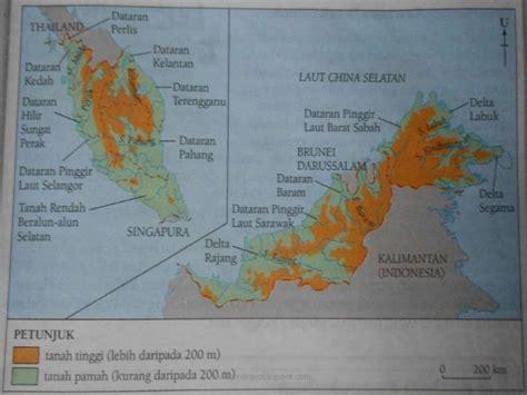geografi tingkatan  bentuk mukabumi tanah pamah