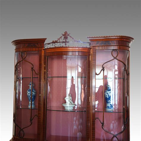 Antique Cabinets Uk by Edwardian Mahogany Bow End Display Cabinet Now Sold