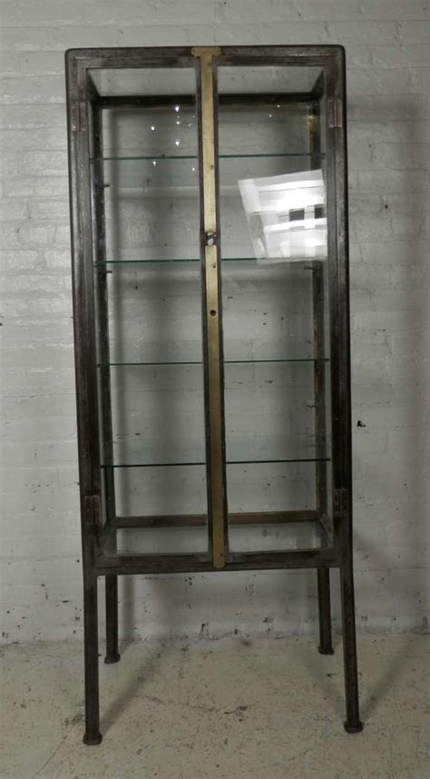 industrial metal apothecary cabinet  stdibs