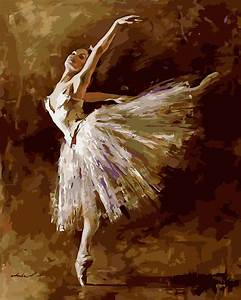 1 Pcs Abstract style Ballet Dancer Painting By Number Kit ...