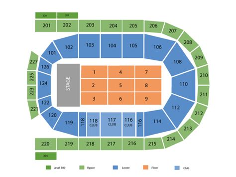 mohegan sun arena casey plaza seating chart wilkes barre pa
