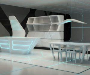 futuristic kitchen design the high tech corian kitchen island by zaha hadid 1145