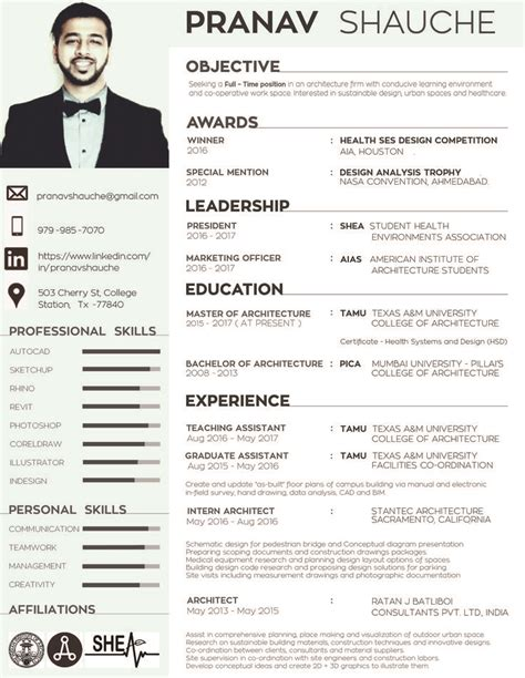 best 25 architect resume ideas on