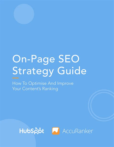 Seo Strategy Guide by On Page Seo Strategy Guide To Maximise Your Content S Ranking