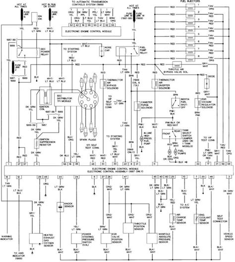 Radio Wire Diagram For 1992 F150 by 1988 Ford F150 Wiring Diagram 88 Ford F 150 Wiring