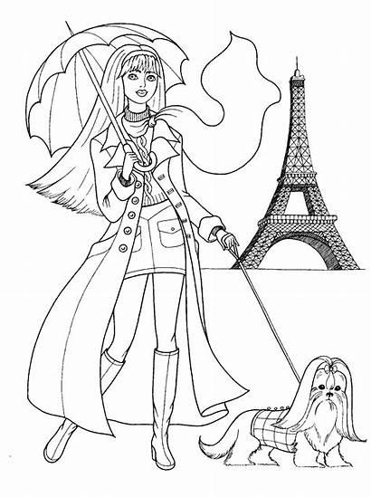 Coloring Pages Teenagers Teens Paris