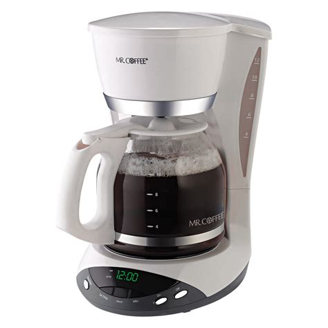This is a very elegant machine from mr. Mr. Coffee DWX20 12-Cup Programmable Coffeemaker, White White - Walmart.com