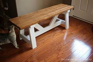 DIY Providence Bench (Plans by Ana White) - Handmade with