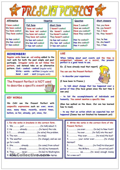 present perfect  pages  images present perfect