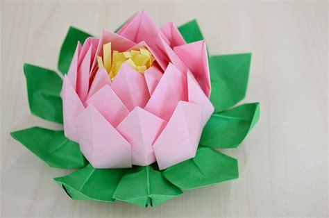 Come Fare Un Fiore Di Carta Facile by Come Fare Un Fiore Di Loto Origami Tutorial La Figurina