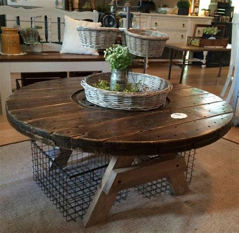 large wooden spools used for tables spool coffee table diy pinterest coffee