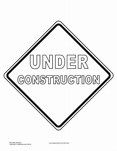 Templates Tools Construction Signs Coloring Sign Pages