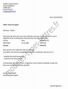 Modele De Lettre De Relance : exemple lettre non paiement facture ~ Gottalentnigeria.com Avis de Voitures