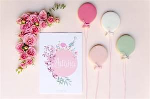 Invitaciones con flores en acuarela hechas a mano