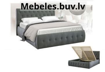 Gulta Calenzana, balta ekoāda. Divguļamās gultas platums 160-200 cm # ...