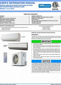Centrex Split System Air Conditioner Manual
