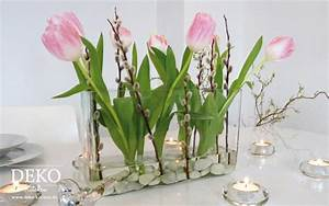Blumengestecke Selber Machen Ideen : diy schnelle fr hlingsdeko f r den tisch deko kitchen ~ Markanthonyermac.com Haus und Dekorationen
