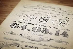 Wedding Invite Format 23 Vintage Wedding Invitation Free Psd Format Download