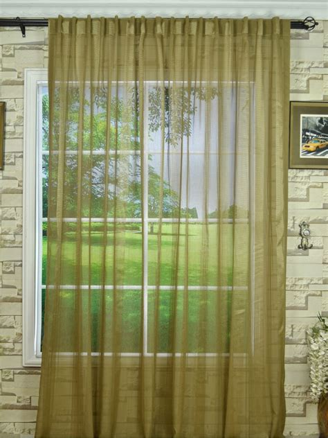 qy7151skg striped concealed tab top sheer curtains