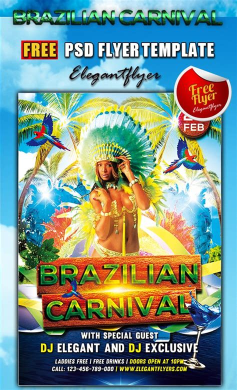 brazilian carnival flyer template 31 free psd party club flyer templates march 2015 edition