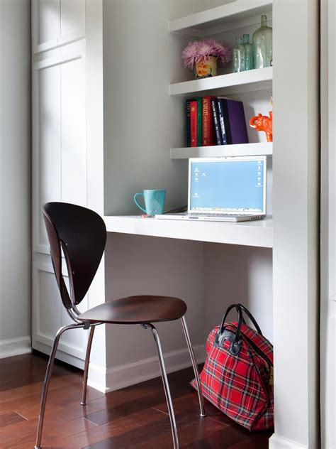 create a small space workstation hgtv