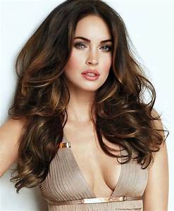 Chocolate brown hair and honey highlights - megan fox ...