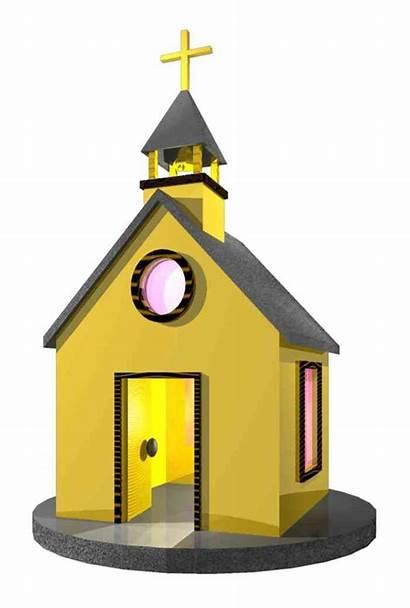 Church Clip Clipart Cartoon Chapel Cliparts Cabin