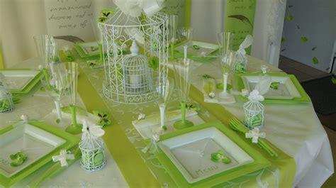 deco de table mariage et blanc deco table mariage vert et blanc le mariage