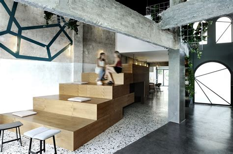 black drop coffee shop arklab  architecture archdaily
