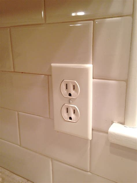 tiles outlet subway tile outlet with innovative subway tile around electrical outlet ideas popular home